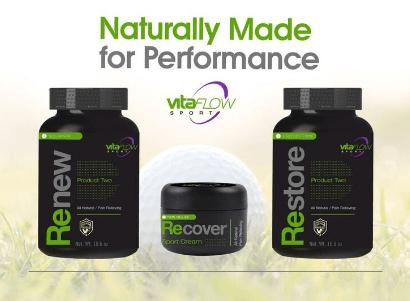 VitaFlow Sport VitaPak - All 3 Products and Bonus Back Pack / Golf Shoe bag