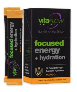 VitaFlow Sport Focused Energy Hydration Stick Pack Mango Flavor