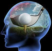 golfing action inside of a human mind