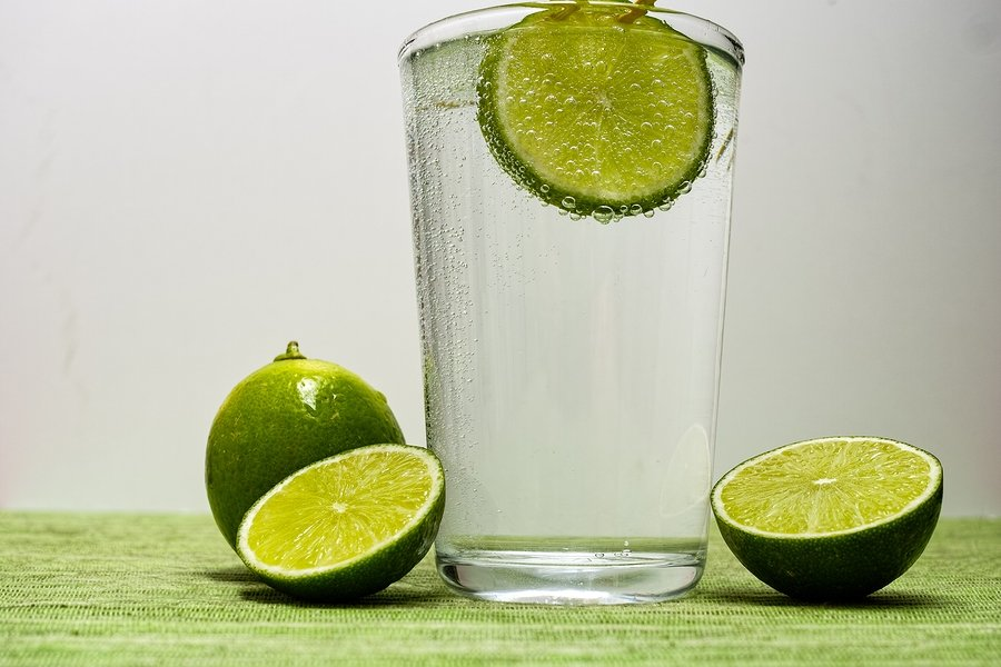 slice limes and lime water