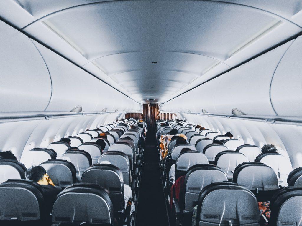 airplane aisle view